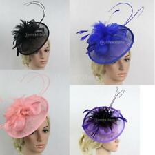 Fashion Net Feather Fascinator with Band Weddings Races Prom Ladies Fascinator
