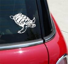SEA TURTLE SWIMMING OCEAN GRAPHIC DECAL STICKER ART CAR WALL DECOR