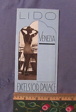 VINTAGE 1936 LIDO VENEZIA ITALY EXCELSIOR PALACE HOTEL FOLD OUT BROCHURE