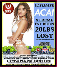 WEIGHT LOSS PILLS FAT BURNERS ACAI 1000MG STRONG  SLIMMING DIET BUY 2 GET 1 FREE