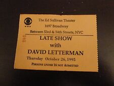 LATE SHOW with DAVID LETTERMAN 1995 TV SHOW TICKET STUB ED SULLIVAN THEATRE NY