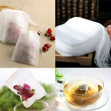 100/200 non-woven Empty Teabags String Heat Seal Filter Paper Herb Loose Tea Bag
