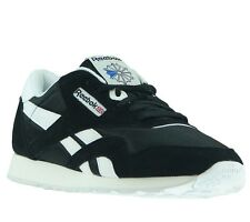 NEW Reebok Sneakers Classic Sport Black White Shoes men's trainer 6604