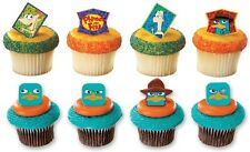 Disney Phineas & Ferb Assorted Cupcake Rings Cake Toppers Party Favors