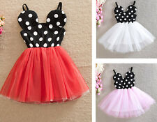 Baby Girl Kids Toddler Minnie Tutu Party Dress Tops Clothing 1-5Y Gift Skirts