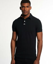 New Mens Superdry New Classic Pique Polo Black