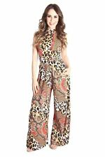 DEALZONE Lovely Printed Loose Fit Jumpsuit S Small Women Red Versatile