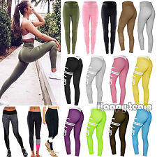 NEW Ladies Women Yoga Fitness Leggings Running Gym Stretch Sports Pants Trousers