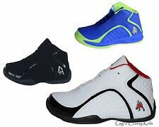 New Boys High Top Sneakers Tennis Shoes Basketball Youth Kids Athletic Casual N