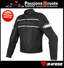 Jacket moto Dainese Air Frame Tex black white perforated spring summer