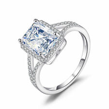 JewelryPalace 2.8ct Cubic Zirconia Anniversary Halo Ring 925 Sterling Silver