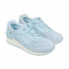 Asics Gel-Respector Mens Blue Leather Trainers Lace Up Shoes