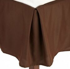 1 Qty Bed Skirt/Valance 1000 TC Egyptian Cotton Pkt Drop 35 Cm Chocolate Solid