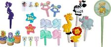 Babyshower Assortment Cupcake Picks Baby Shower Cake Toppers Appetizer Decoratio