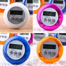 Cute Mini Round LCD Digital Cooking Home Kitchen Countdown UP Timer Alarm HT