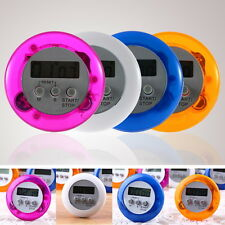 New Cute Mini Round LCD Digital Cooking Home Kitchen Countdown UP Timer Alarm HT