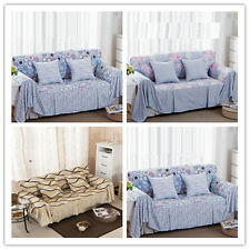 Indoor Sofa Loveseat Stretch 1-4 Seater Cover Protector Towel Couch Slipcover G