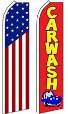 Car Auto Services Swooper Flutter Feather Flags 2 Pack-US Flag-Carwash red