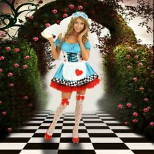 Blue/Red Womens Alice In Wonderland Fairy Tale Costume