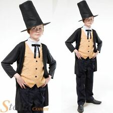 Boys Victorian Gent Costume Edwardian Child Book Week Day Fancy Dress Outfit