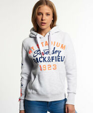 New Womens Superdry Trackster Hood Ice Marl