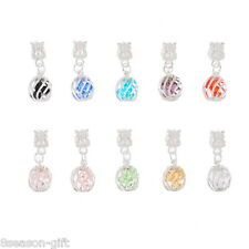 Wholesale Lots HX Mixed Crystal Cage Dangle Beads Fit Charm Bracelet