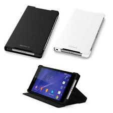 Genuine Ultra Thin Stand Flip Leather Case For SONY Xperia Z2 Z3 Compact - SCR10