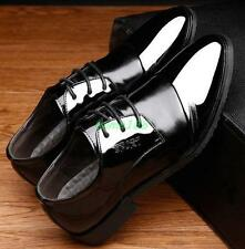 Mens Chic Dress Formal Casual Oxford Shoes Black Brown lace up wedding shoes @@@