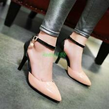Womens high stiletto heel OL dress formal ankle strap shoes buckle pumps size