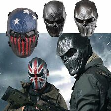 Airsoft Paintball Full Face Skull Skeleton CS Mask Tactical Military Halloween