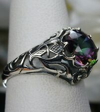2ct *Mystic Topaz* Sterling Silver Victorian Daisy Filigree Ring {Made To Order}