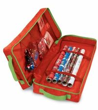 BNWT XMAS BIRTHDAY PARTY GIFT WRAP ORGANISER  BAG WITH COMPARTMENTS 79 X 33 X 15
