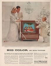 RCA Victor TV New Director 21 Big Color Television Console 1955 Christmas Ad