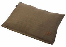 Brown Herringbone Tweed Petface Puppy Dog Cushion Bed Anti Slip Pillow Mattress
