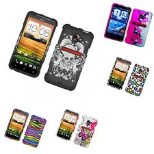 For HTC EVO 4G LTE Hard Phone Case Design Rubberized Snap-On Cover