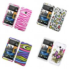 For HTC One M7 Hard Phone Case Design Rubberized Snap-On Cover