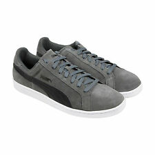 Puma Puma Smash Suede Leather Mens Gray Suede Lace Up Lace Up Sneakers Shoes