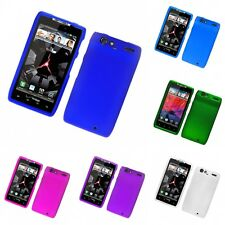 For Motorola Droid Razr XT912 Hard Snap-On Rubberized Phone Skin Case Cover