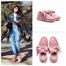 Womens Pink Satin Bow Walking Athletic Fashion Sneakers Shoes