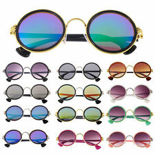 Classic Fashion Round Vintage Retro Style Classical Metal Frames Sunglasses HT