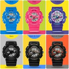 Child Kid Boy Waterproof LED Quartz Digital Men Sports Military Watch HOSKA B3J5