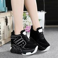 Chic Womens Shoes Platform Wedge Super High Heels Sneakers Ankle Boots Sport New