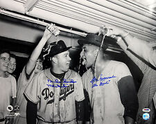 Dodgers Don Newcombe & Duke Snider Authentic Signed 16X20 Photo PSA/DNA #P72789