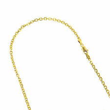 Luxurman 14K Solid Yellow Gold 4mm Wide Diamond Cut Cable Link Chain Necklace wi