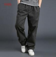 Mens  Baggy Pants Casual Cotton Straight Cargo Loose Trousers US Size New YTKJ @