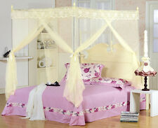 Yellow Princess Bed Canopy Mosquito Netting Or Bed Frame Twin Full Queen King