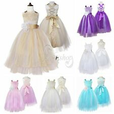 Toddler Girls Flower Dress Birthday Pageant Wedding Bridesmaid Formal Dress 2-14