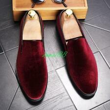 Stylish Mens oxford Velvet Loafers Casual Dress Formal Slip On Shoes SIZE