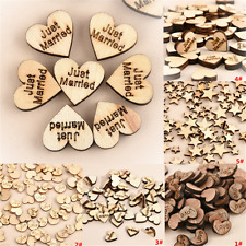 100PCS Fashion Rustic Wooden Wood Love Heart Wedding Table Scatter Decor Crafts