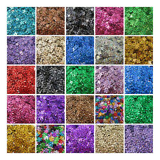 10mm & 15mm HOLOGRAPHIC FLORAL SEQUINS *30 COLOURS* FLOWER CONFETTI SEWING